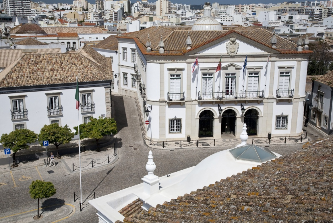 'Faro, Portugal. The City Hall: view from the top of the Cathedral.' - Algarve